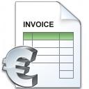 Invoice Euro Icon 128x128