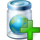 Jar Earth Add Icon 128x128