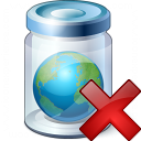Jar Earth Delete Icon 128x128