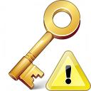 Key Warning Icon 128x128