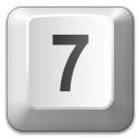 Keyboard Key 7 Icon 128x128