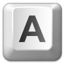 Keyboard Key A Icon 128x128
