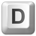 Keyboard Key D Icon 128x128