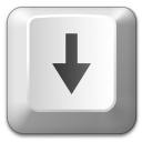Keyboard Key Down Icon 128x128