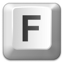 Keyboard Key F Icon 128x128
