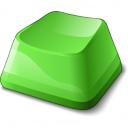 Keyboard Key Green Icon 128x128