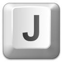 Keyboard Key J Icon 128x128