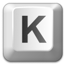 Keyboard Key K Icon 128x128