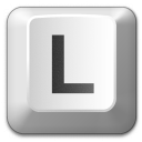 Keyboard Key L Icon 128x128
