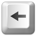 Keyboard Key Left Icon 128x128