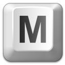 Keyboard Key M Icon 128x128