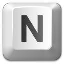 Keyboard Key N Icon 128x128