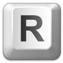 Keyboard Key R Icon 128x128