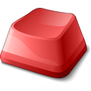 Keyboard Key Red Icon 128x128