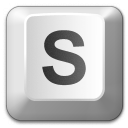 Keyboard Key S Icon 128x128