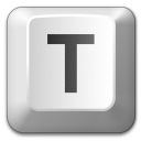 Keyboard Key T Icon 128x128