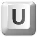 Keyboard Key U Icon 128x128