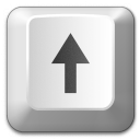 Keyboard Key Up Icon 128x128