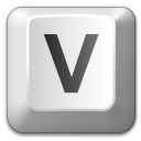 Keyboard Key V Icon 128x128