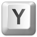 Keyboard Key Y Icon 128x128