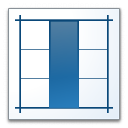 Layout Vertical Icon 128x128