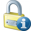 Lock Information Icon 128x128