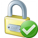 Lock Ok Icon 128x128