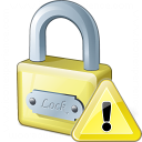 Lock Warning Icon 128x128