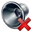 Loudspeaker Delete Icon 128x128