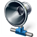 Loudspeaker Network Icon 128x128