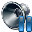 Loudspeaker Pause Icon 128x128