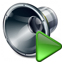 Loudspeaker Run Icon 128x128
