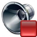 Loudspeaker Stop Icon 128x128