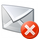 Mail Error Icon 128x128