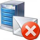 Mail Server Error Icon 128x128