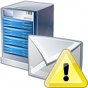 Mail Server Warning Icon 128x128