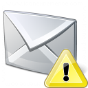 Mail Warning Icon 128x128