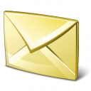 Mail Yellow Icon 128x128