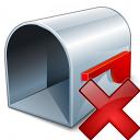 Mailbox Empty Delete Icon 128x128