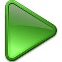 Media Play Green Icon 128x128