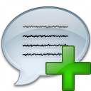 Message Add Icon 128x128