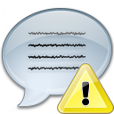 Message Warning Icon 128x128