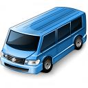 Minibus Blue Icon 128x128