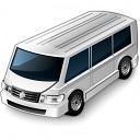 Minibus White Icon 128x128