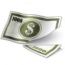 Money Bill Cut Icon 128x128