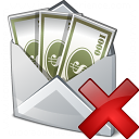 Money Envelope Delete Icon 128x128