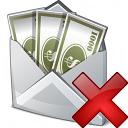 Money Envelope Delete Icon 128x128
