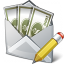 Money Envelope Edit Icon 128x128