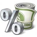 Money Interest Icon 128x128