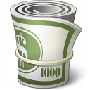 Money Roll Icon 128x128